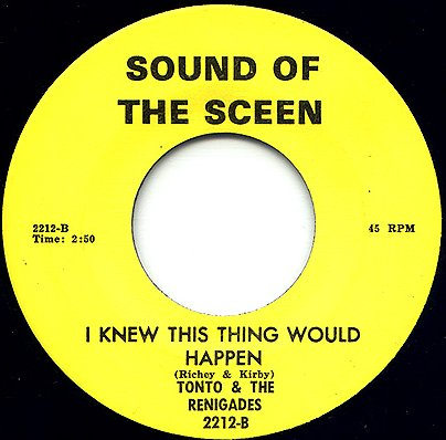 Tonto and the Renegades - I Knew This Thing (Sceen 2212-B)